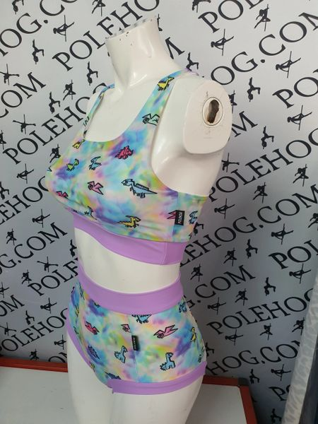 Lilac dino (full) high waisted fitted pant