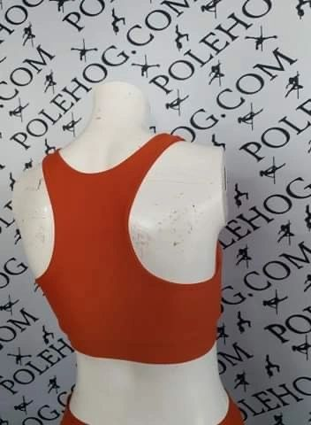 Burnt orange PERFORM racer back top