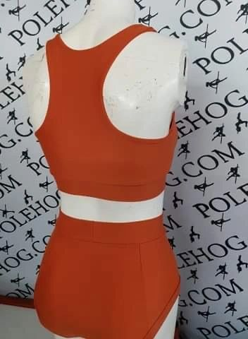 Burnt orange PERFORM (full) high waisted fitted pant