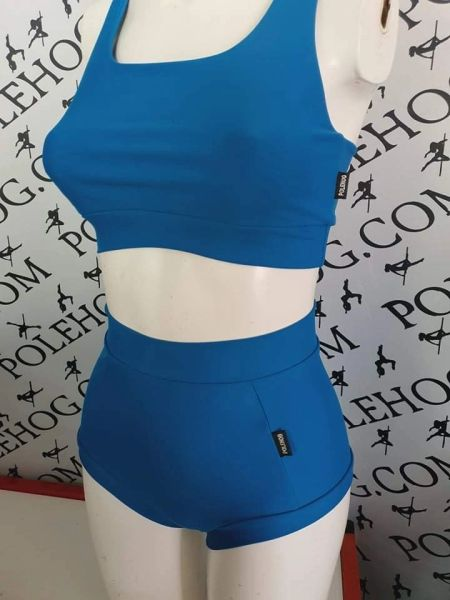Blue PERFORM (full) high waisted fitted pant