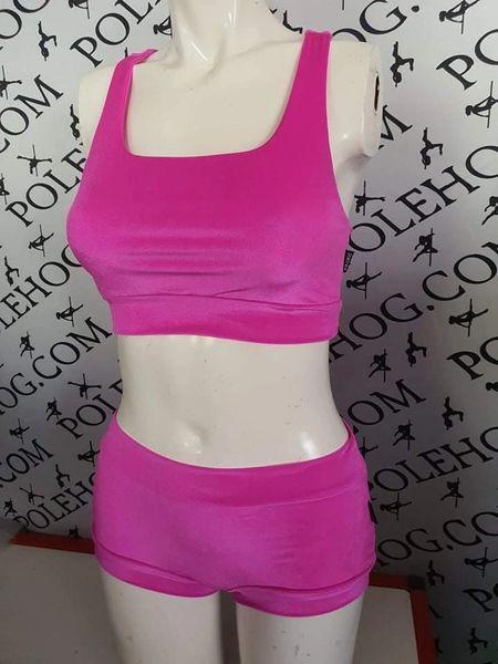 Bright pink smooth velvet bottoms