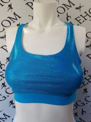 **new**Sea blue diamond dust top