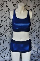 Deep blue shine racer top