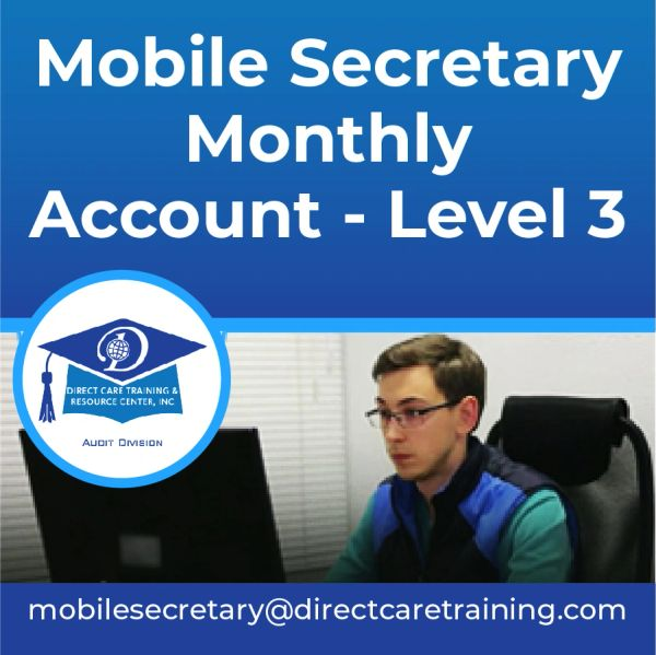 Mobile Secretary - Level 3 - Professional Correspondence Service