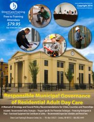 Department Manual - Responsible Municipal Governance of Residential Adult Day Care