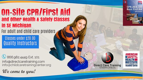 On-Site CPR and First Aid Combined On-Site Conducted in Michigan- $42.95 Per Student