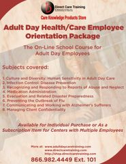 Adult Day Health/Care Staff Orientation Group Subscription Model