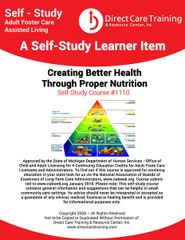 Adult Foster Care Course 1110 - Nutritional Protocol in Group Living - 4 CEUs