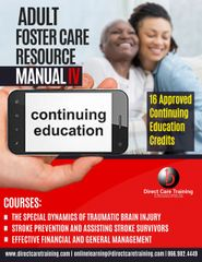 Adult Foster Care Bundle - Resource Manual IV - 16 Hours of CEUs