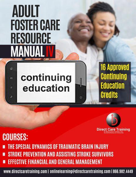 Adult Foster Care Bundle - Resource Manual IV - 16 Hours of CEUs