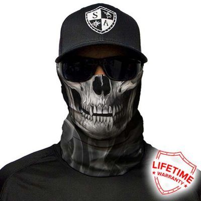 SA Fishing Face Shield Skull Tech   Crow