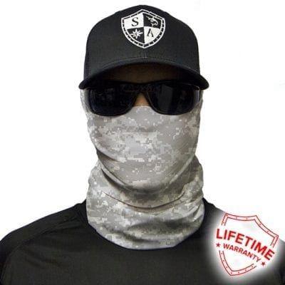 SA Fishing Face Shield Digital Ghost Camo