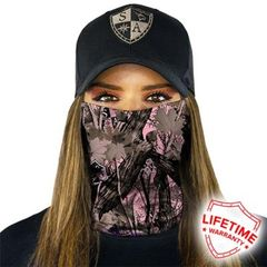 SA Fishing Face Shield Forest Camo Pink