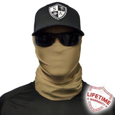 SA Fishing Face Shield Tactical Tan