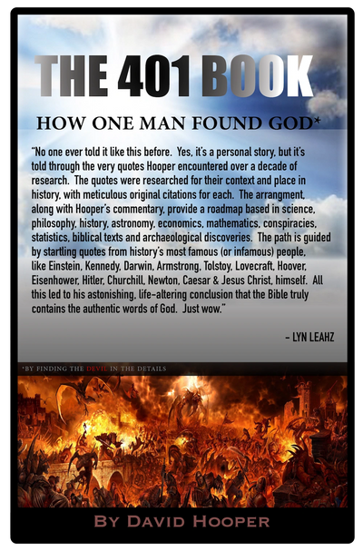 Lynn Leahz Endorsement of The 401 Book Finding God by Finding the Devil in the Details. David Hooper