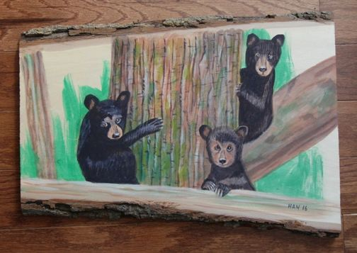 Wood - Black Bear Cubs I