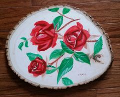 Wood - Red Roses