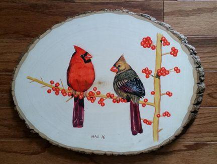 Wood - Cardinal Couple