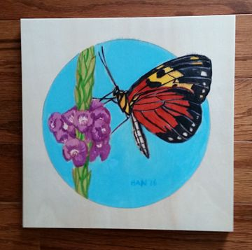 Wood Square - Butterfly II