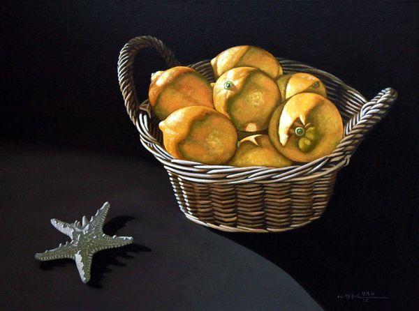 Still Life with Lemons - Framed