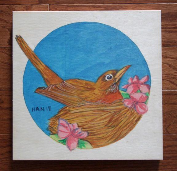 Wood Square - American Robin