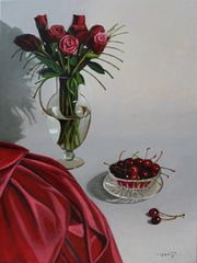 Still Life with Red Roses