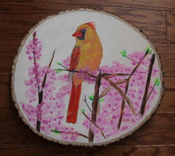 Wood - Female Cardinal