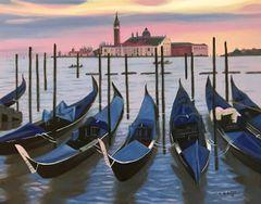 Blue Gondolas - Venice, Italy