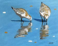 Sandpipers IV - Acrylic