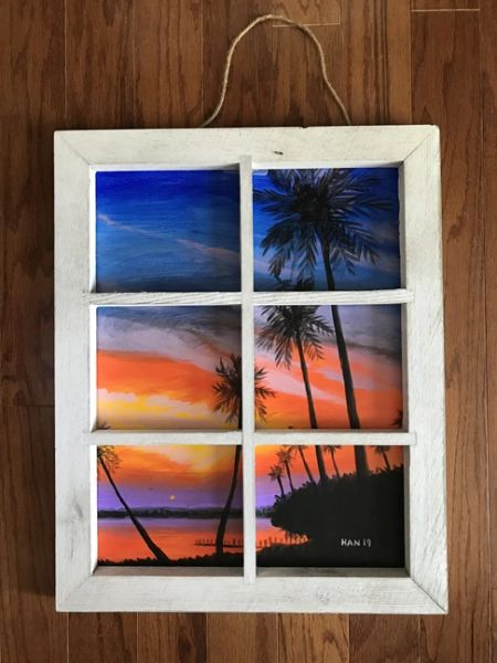 Window - Palm Tree II