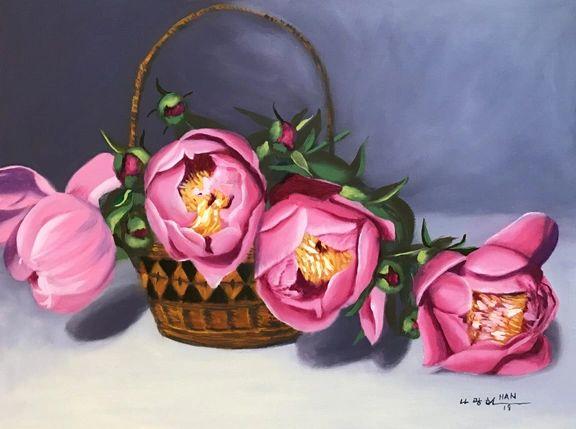 From Peony Garden VIII - Framed
