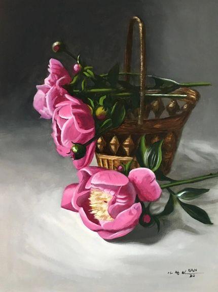 From Peony Garden VIIII - Framed