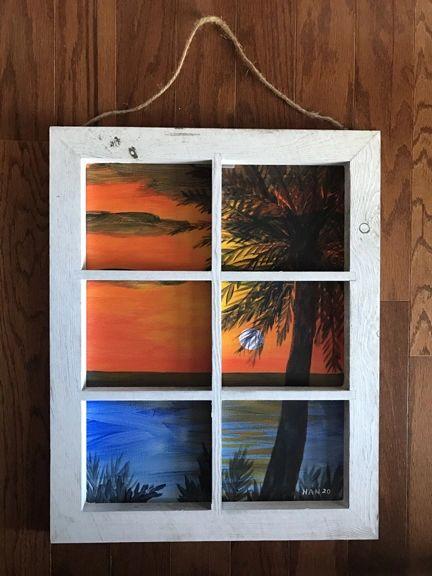 Window - Palm Tree IV