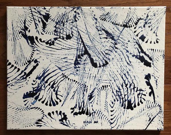 Untitled - Line - Dark Blue on White