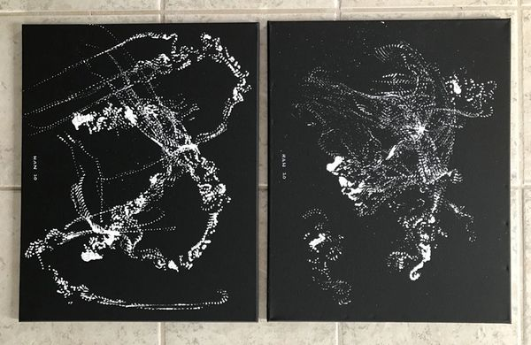 Untitled - Line - White on Black - Set I