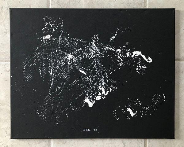 U - Dragging - White on Black II