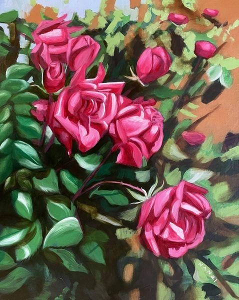 Rose Garden VI - Framed