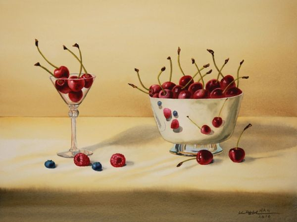 Cherries and Blue Berries - Not for Sale