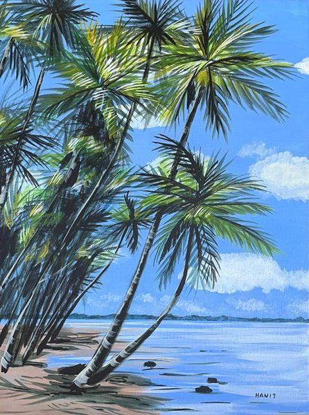 Palm Tree Scene II - Not for Sale