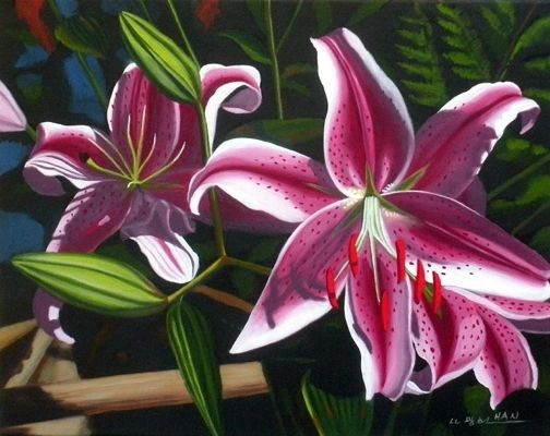 Pink Lilies I