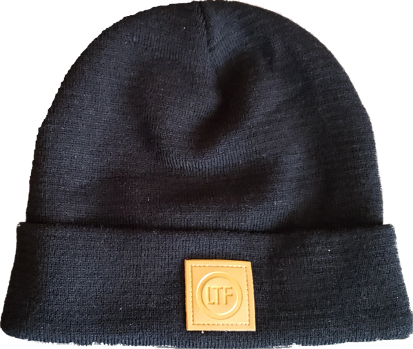 ltfo leather logo beanie ltfo leather logo beanie