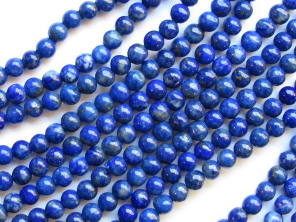 "Natural LAPIS Lazuli BEADS 4mm Round Quality Grade Blue 8"" Strand 54 pc"
