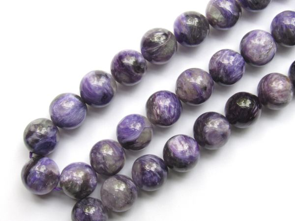 AAA Grade CHAROITE 10mm Round Natural Purple Genuine Quality Russian Gemstone