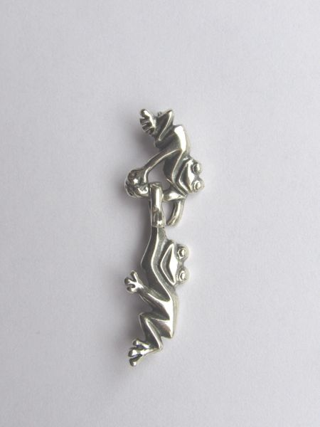 CLASP Quality Antique Silver Friendly FROGS Hook & Eye 24mm JBB Findings
