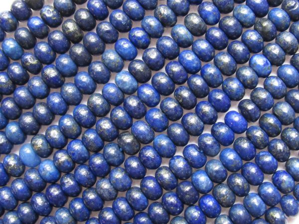 Natural LAPIS Lazuli BEADS 6mm Rondelle Blue gemstone Strand for making jewelry
