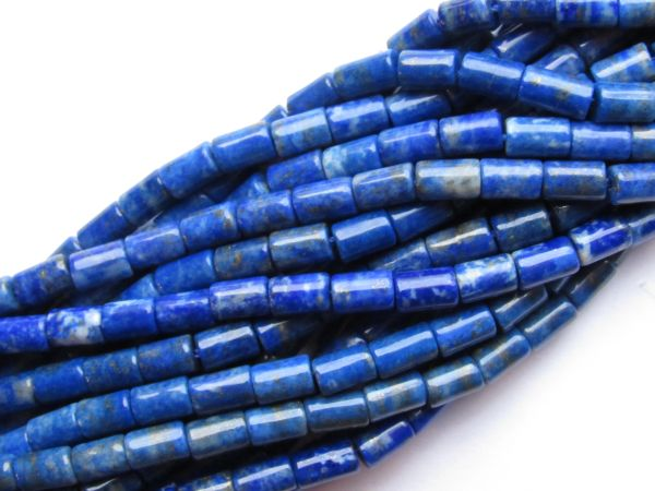Lapis Lazuli BEADS Tube 6-7 x 4mm Quality Natural Blue Gemstone Undyed making jewelry bead supply
