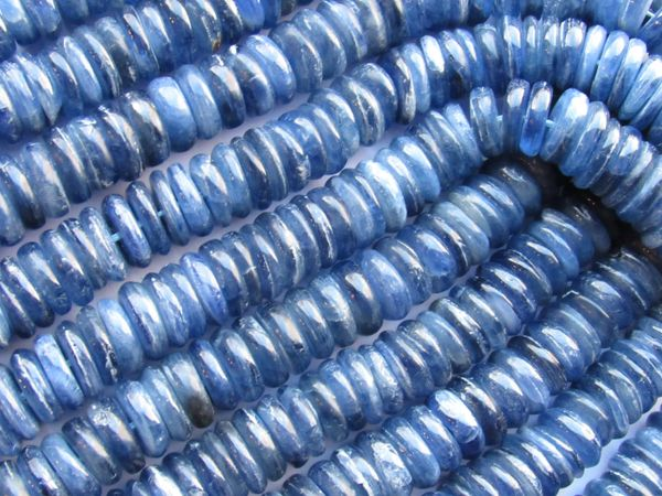 Bead Supply Blue KYANITE BEADS 12mm Rondelle A Grade for making jewelry