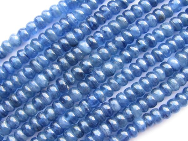 Natural Blue KYANITE BEADS 6x4mm Rondelle A Grade Natural Gemstone making jewelry quality bead supply