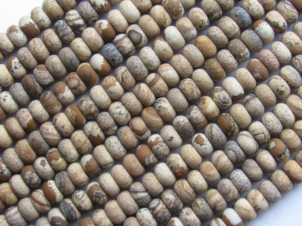 Picture JASPER BEADS 7mm Rondelle Natural Gemstone making jewelry bead supply