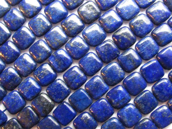 Jewelry making Supplies Genuine LAPIS Lazuli BEADS 12mm Square A Grade Natural bulk gemstone bead lot